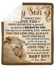 "Never Forget I Love U Lion  Mom To Son Sherpa Fleece Blanket - 50"" x 60"" thumbnail"