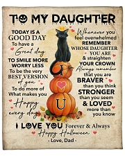 """Halloween Today Is A Good Day Dad To Daughter Fleece Blanket - 50"""" x 60"""" front"""
