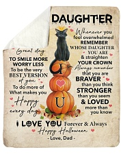 Halloween Today Is A Good Day Dad To Daughter Sherpa Fleece Blanket tile