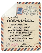 """Even When Im Not Close By FIL To Son-in-law Sherpa Fleece Blanket - 50"""" x 60"""" thumbnail"""