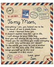 """Everything I Am U Helped Me To Be Son To Mom Fleece Blanket - 50"""" x 60"""" front"""