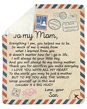 """Everything I Am U Helped Me To Be Son To Mom Sherpa Fleece Blanket - 50"""" x 60"""" thumbnail"""