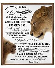 "Little Girl Yesterday Friend Today-MomTo Daughter Fleece Blanket - 50"" x 60"" front"