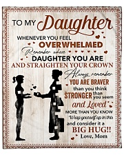 """You Are Braver Than U Think Mom To Daughter Fleece Blanket - 50"""" x 60"""" front"""