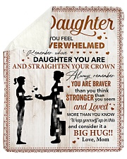 """You Are Braver Than U Think Mom To Daughter Sherpa Fleece Blanket - 50"""" x 60"""" thumbnail"""