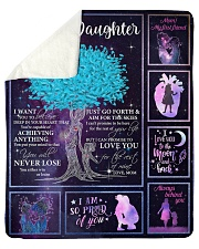 "I Can Promise To Love U Tree Mom To Daughter Sherpa Fleece Blanket - 50"" x 60"" thumbnail"
