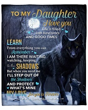 """Life Is Filled With Hardtimes-Wolf Mom To Daughter Fleece Blanket - 50"""" x 60"""" front"""