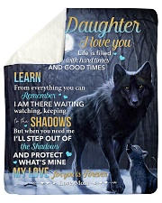 Life Is Filled With Hardtimes-Wolf Mom To Daughter Sherpa Fleece Blanket tile