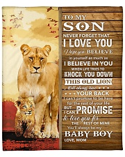 """Lion- Never Forget That I Love You Mom-To-Son Fleece Blanket - 50"""" x 60"""" thumbnail"""