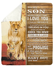 """Lion- Never Forget That I Love You Mom-To-Son Sherpa Fleece Blanket - 50"""" x 60"""" thumbnail"""