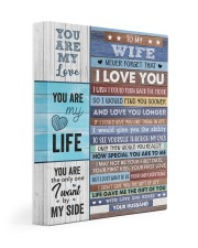 Never Forget That I Love U Husband To Wife 11x14 Gallery Wrapped Canvas Prints thumbnail
