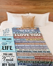 """Never Forget That I Love U Husband To Wife Large Fleece Blanket - 60"""" x 80"""" aos-coral-fleece-blanket-60x80-lifestyle-front-02"""