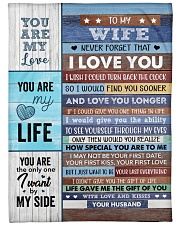 """Never Forget That I Love U Husband To Wife Large Fleece Blanket - 60"""" x 80"""" front"""