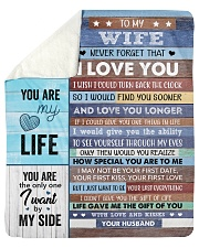 "Never Forget That I Love U Husband To Wife Sherpa Fleece Blanket - 50"" x 60"" thumbnail"