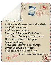 """Wife I Just Want To Be Your Last Everything Love U Sherpa Fleece Blanket - 50"""" x 60"""" thumbnail"""