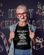 Grandma And Grandson A Bond That Can't Be Broken Ladies T-Shirt lifestyle-holiday-crewneck-front-3