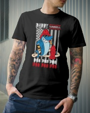 Firefighter daddy shark Classic T-Shirt lifestyle-mens-crewneck-front-6