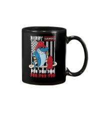 Firefighter daddy shark Mug thumbnail