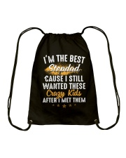 I'm The Best Stepdad I Wanted These Crazy Kids Drawstring Bag thumbnail