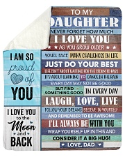 """Never Forget How Much I Love U Dad To Daughter Sherpa Fleece Blanket - 50"""" x 60"""" thumbnail"""