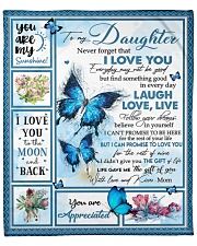 """Never Forget That I Love U Mom To Daughter Fleece Blanket - 50"""" x 60"""" front"""