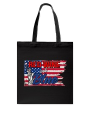 Red Wine And Blue Tote Bag thumbnail