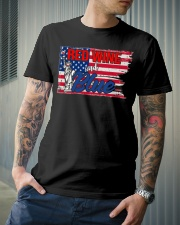 Red Wine And Blue Classic T-Shirt lifestyle-mens-crewneck-front-6