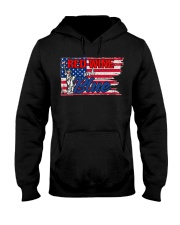 Red Wine And Blue Hooded Sweatshirt thumbnail