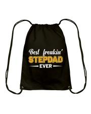 Best Freakin' Stepdad Ever Drawstring Bag thumbnail