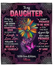 """Every Day May Not Be Good Hippie Mom To Daughter Fleece Blanket - 50"""" x 60"""" front"""