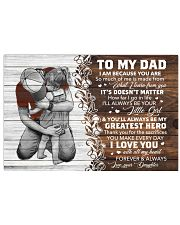 I Am Cuz You Are Daughter To Dad Horizontal Poster tile