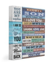 Never Forget That I Love U Dad To Son 11x14 Gallery Wrapped Canvas Prints front