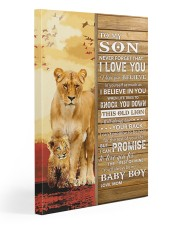 Lion Never Forget That I Love You Mom To Son 20x30 Gallery Wrapped Canvas Prints front