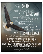 "Never Forget I Love You Eagle Dad To Son Fleece Blanket - 50"" x 60"" thumbnail"