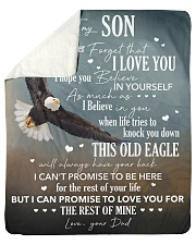 "Never Forget I Love You Eagle Dad To Son Sherpa Fleece Blanket - 50"" x 60"" thumbnail"