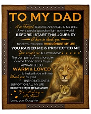 """Dad Lion I'm Blessed To Have An Angel In My Life Fleece Blanket - 50"""" x 60"""" front"""