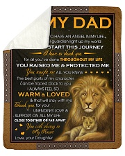 """Dad Lion I'm Blessed To Have An Angel In My Life Sherpa Fleece Blanket - 50"""" x 60"""" thumbnail"""