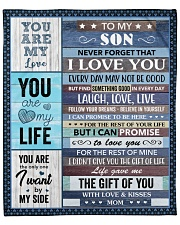 "Never Forget That I Love U Mom To Son Fleece Blanket - 50"" x 60"" front"
