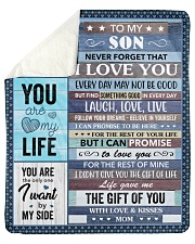 "Never Forget That I Love U Mom To Son Sherpa Fleece Blanket - 50"" x 60"" thumbnail"