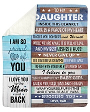 """Inside Blanket A Piece Of My Heart Dad To Daughter Sherpa Fleece Blanket - 50"""" x 60"""" thumbnail"""
