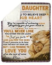 I Want U To Believe Deep In Heart Mom To Daughter Sherpa Fleece Blanket tile