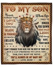 "Never Forget I Love U Lion Mom To Son Fleece Blanket - 50"" x 60"" front"