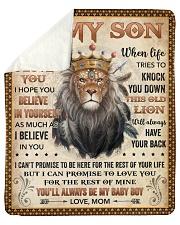 "Never Forget I Love U Lion Mom To Son Sherpa Fleece Blanket - 50"" x 60"" thumbnail"