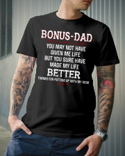 Bonus Dad Thank for putting up with Mom Classic T-Shirt lifestyle-mens-crewneck-front-6