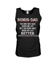 Bonus Dad Thank for putting up with Mom Unisex Tank thumbnail
