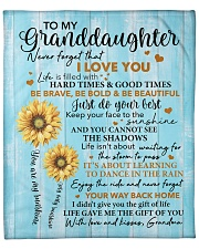 "Sunflower Never 4get I LoveU Grandma Granddaughter Fleece Blanket - 50"" x 60"" front"