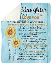 "Sunflower Never 4get I LoveU Grandma Granddaughter Sherpa Fleece Blanket - 50"" x 60"" thumbnail"