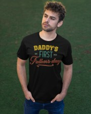 Daddy's First Father's Day Classic T-Shirt apparel-classic-tshirt-lifestyle-front-43