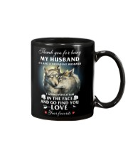 Thank You For Being My Husband Mug front