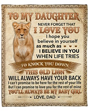 "Never Forget That I Love You-Lion Dad To Daughter Fleece Blanket - 50"" x 60"" front"